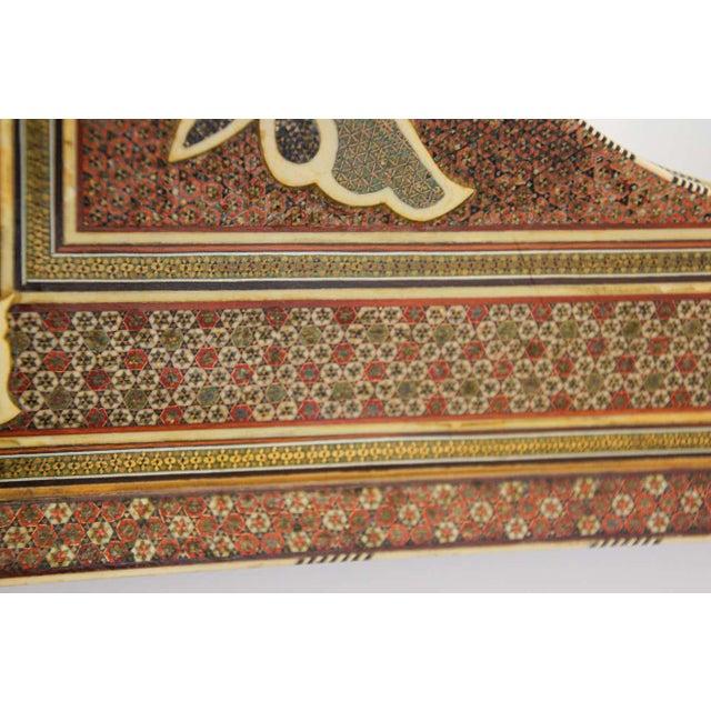 Middle Eastern Moorish-style mirror. Middle Eastern, Indo Persian Sadeli micro mosaic inlaid wall mirror. Intricate inlay...