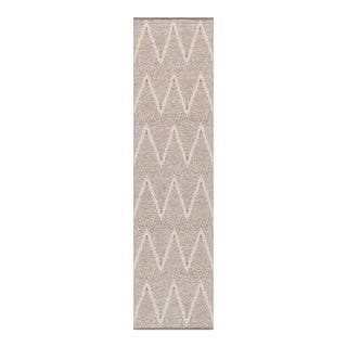 "Pasargad Simplicity Hand-Woven Cotton Runner Rug - 2' 6"" X 10' 0"" For Sale"