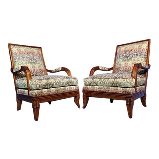 Hickory Chair Lounge Chairs - A Pair For Sale