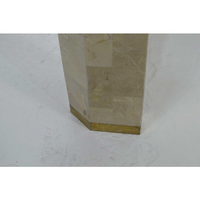 Maitland-Smith Tessellated Marble Console with Brass Inlay For Sale In Dallas - Image 6 of 7