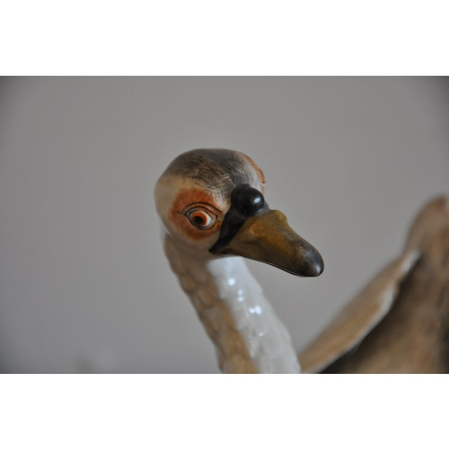 Ceramic Pair of Early 20th Century Meissen Type Porcelain Swans For Sale - Image 7 of 8