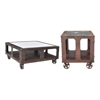 Adirondack Karel End Table With Coffee Table Set - 2 Pieces For Sale