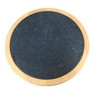 Crate and Barrel Slate Lazy Susan For Sale