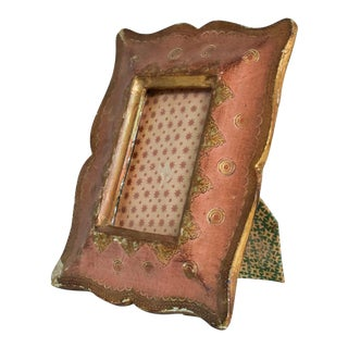 Antique Italian Picture Frame Hand Decorated Beautiful Patina For Sale