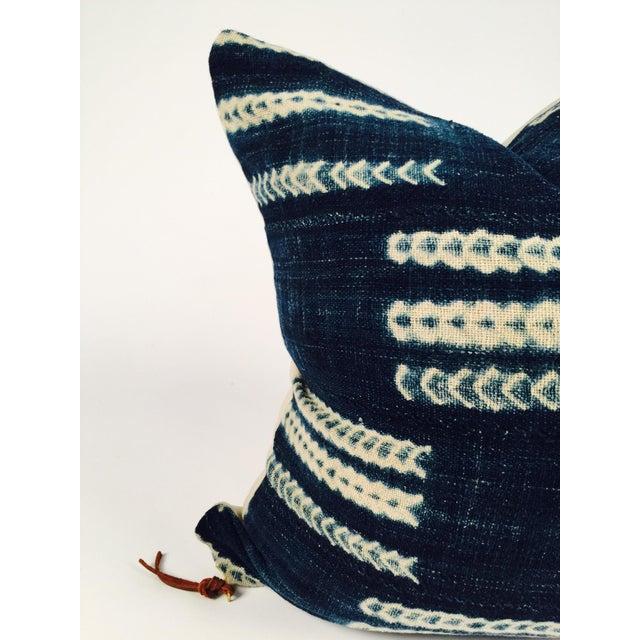Vintage Indigo African Mud Cloth Pillow - Image 3 of 5