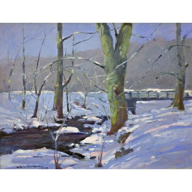 Bob Waltsak Winter Landscape Oil Painting - Image 1 of 4