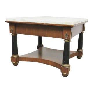 French Empire Marble Top Side Table For Sale