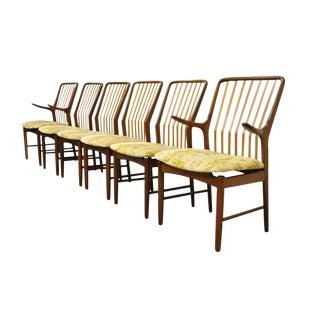 1960s Vintage Svend A. Madsen for Moreddi Teak Danish Modern Dining Chairs- Set of 6 For Sale