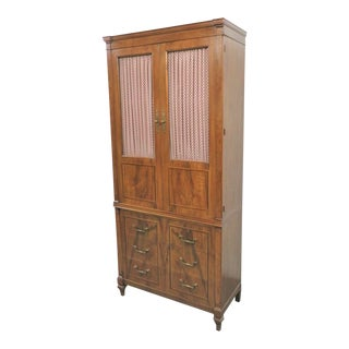 John Widdicomb Italian Style Walnut Linen Press