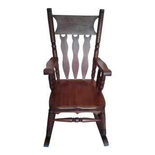 Traditional Walnut Rocking Chair For Sale