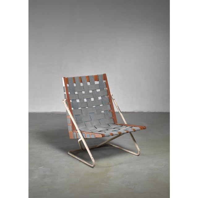 Canvas Walter Gindele Prototype Chair, Austria For Sale - Image 7 of 7