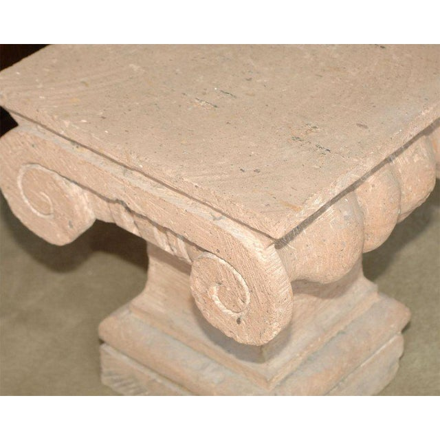 Traditional Late 20th Century Spanish Colonial Style Carved Stone Capital For Sale - Image 3 of 5