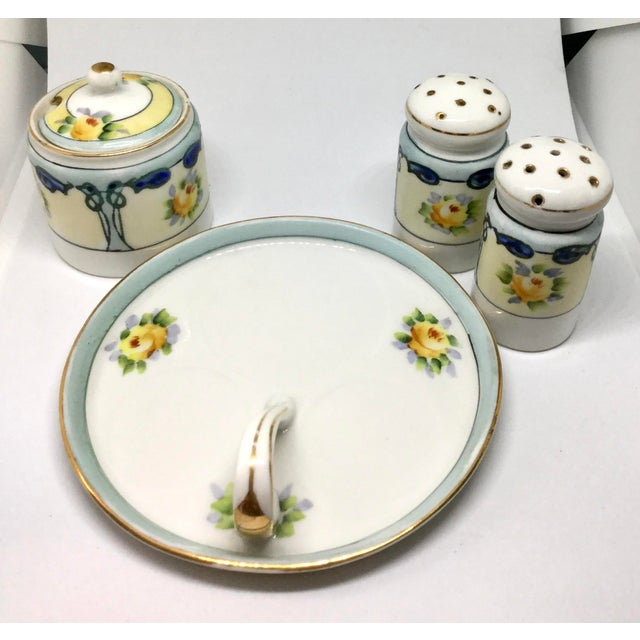 Noritake Antique 1910s Noritake Salt and Pepper Set - 4 Pieces For Sale - Image 4 of 13