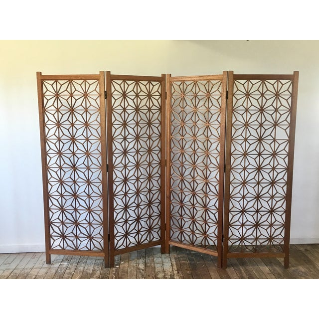 A fantastic Mid Century Modern screen made from Teak. I love the geometric pattern on this piece, it really adds texture...