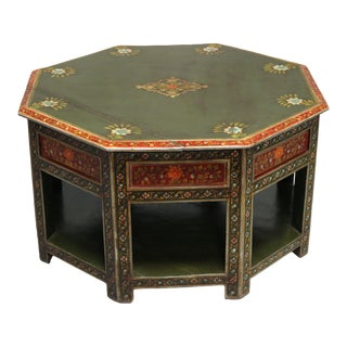 Painted Wooden Coffee Table For Sale