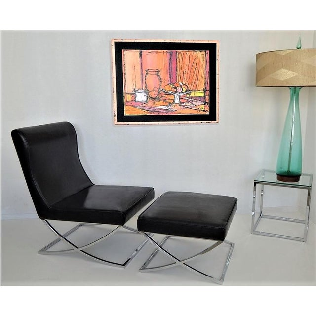 Large Framed Mid-Century Modern Abstract Expressionist Cubist ...