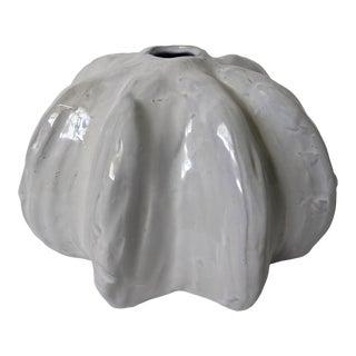 Vintage Glazed Ceramic Sculptural Urchin Vessel For Sale