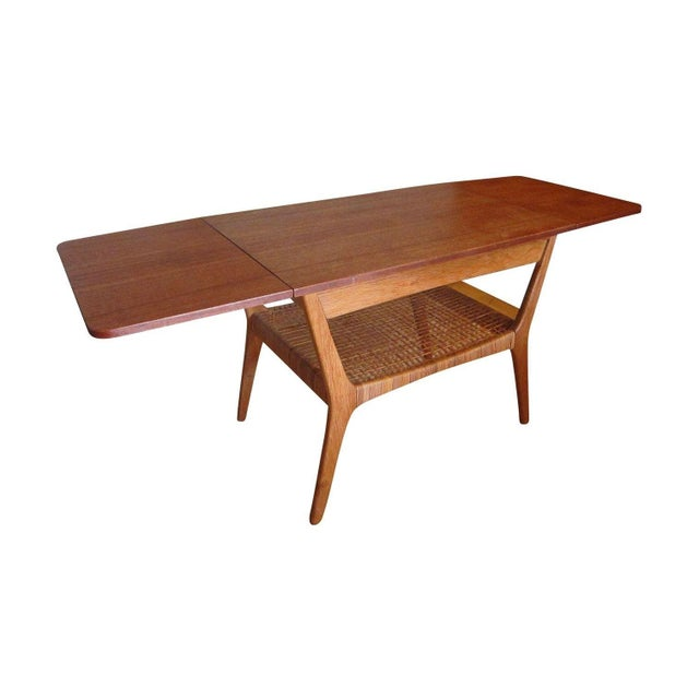 Vintage Mid-Century Danish Teak Cocktail Table For Sale