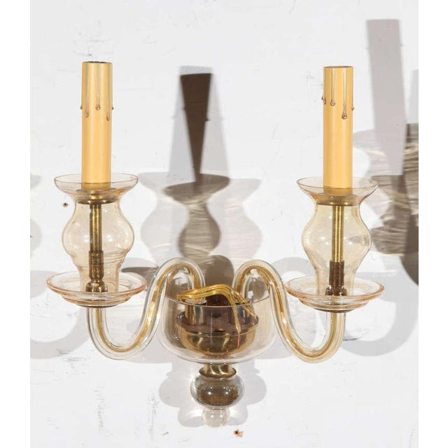 Vintage Italian Murano Glass Sconces - A Pair For Sale In Los Angeles - Image 6 of 7