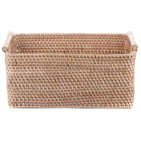 Haul your goodies in style with this easy to carry basket. Balinese weavers have mastered the intricate art of weaving in...