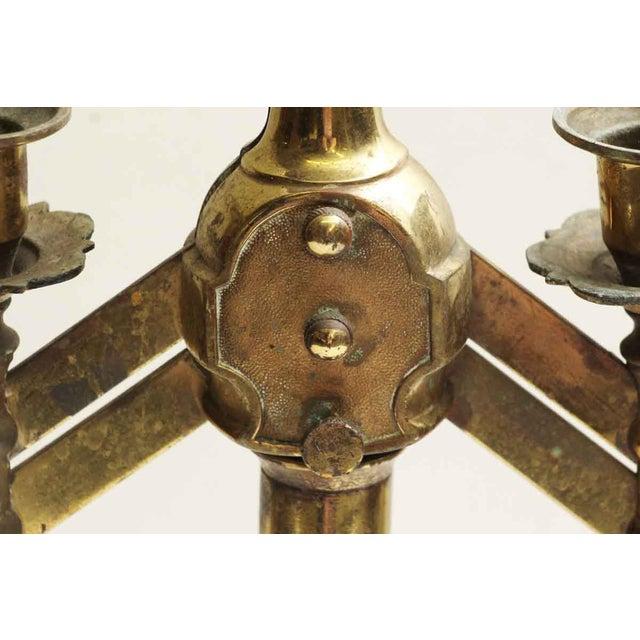 Single Seven Light Brass Candelabra For Sale - Image 4 of 7