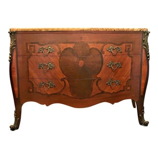 Louis XIV Style Serpentine Front Dresser Commode Bureau Chest of Drawers