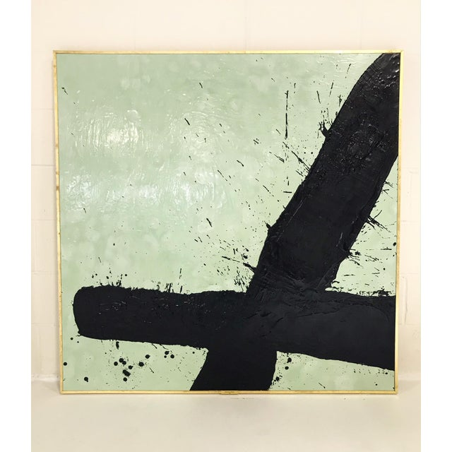 "2010s John O'Hara. Tar, 21. 49x49"" Abstract Painting. For Sale - Image 5 of 5"