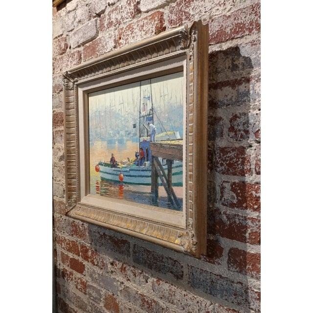 Paul Youngman - Moss Landing,CA - Seascape Scene - Original Oil Painting Oil Painting on Canvas -Signed For Sale - Image 9 of 10