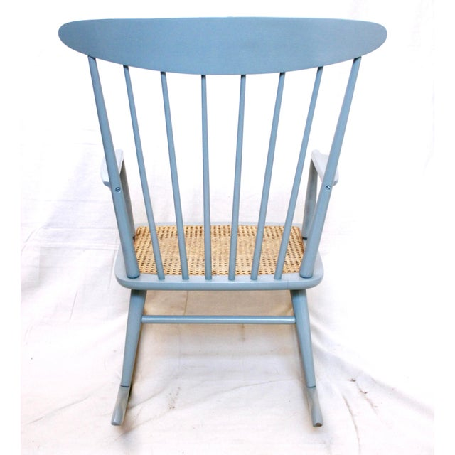 Mid 20th Century Vintage Mid Century Danish Modern Rocking Chair For Sale - Image 5 of 9