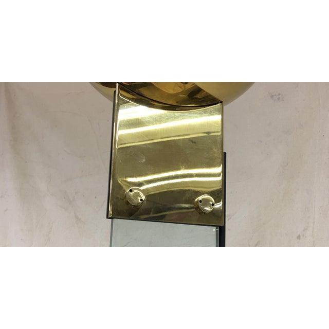 Italian Brass & Glass Floor Lamp For Sale In Washington DC - Image 6 of 8