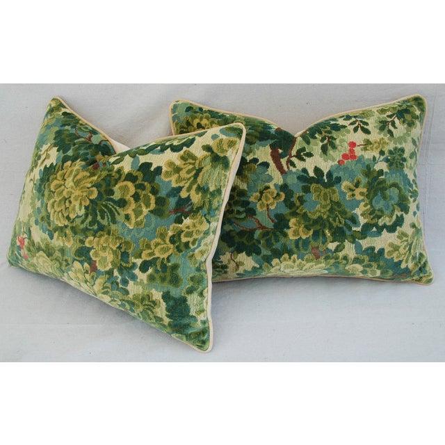 Designer Scalamandre Velvet Marly Pillows - Pair - Image 8 of 11