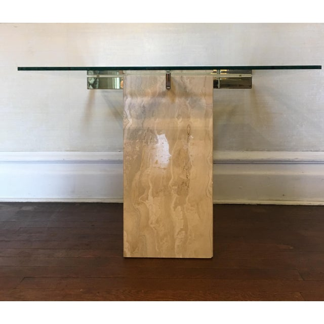 Mid-Century Travertine Side Tables - A Pair - Image 5 of 10
