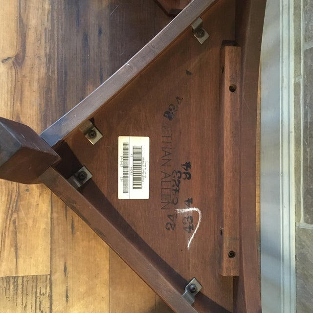 Late 20th Century Ethan Allen Solid Cherry Triangle Corner Side Table For Sale - Image 11 of 13