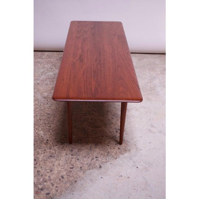 Peter Hvidt & Orla Mølgaard Nielsen Teak and Cane Coffee Table For Sale In New York - Image 6 of 13