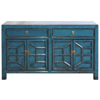 Asian Blue Elm Buffet For Sale
