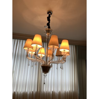 Vintage Barovier and Toso Crystal, Lucite, Glass Chandelier Preview