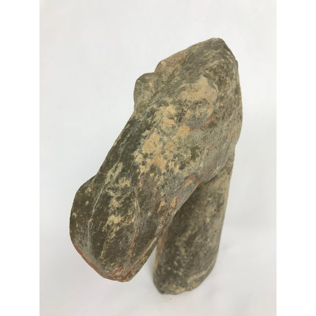 Han type pottery horse head. From an old Oregon family collection. Family had long standing ties to the Philippines but we...