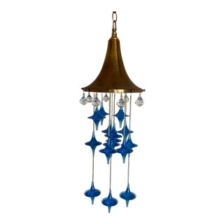 Modern Lucite Tops Pendant Chandelier For Sale