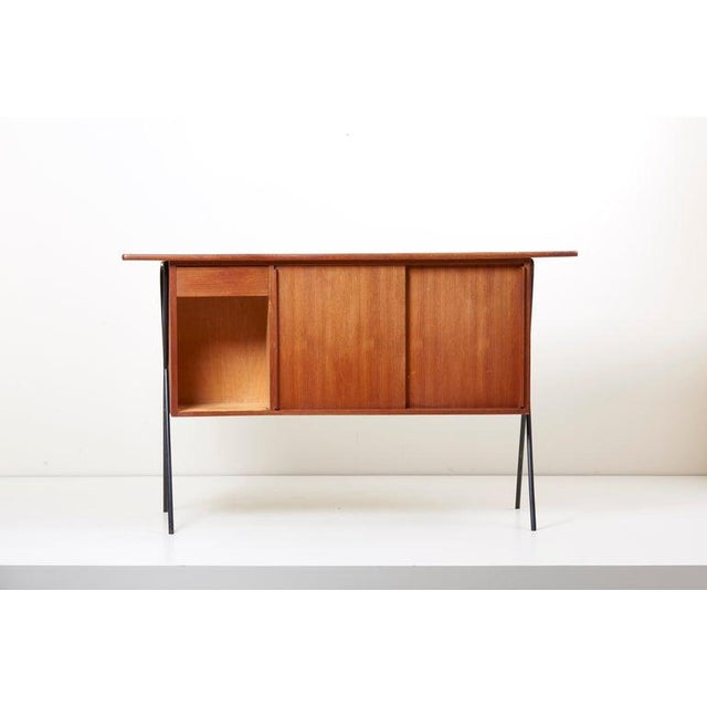 House Bar and Four Bar Stools by Prof. Herta-Maria Witzemann for Erwin Behr For Sale - Image 9 of 13