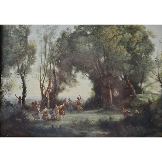 Green Jean Baptiste Camille Corot Framed Prints - A Pair For Sale - Image 8 of 10