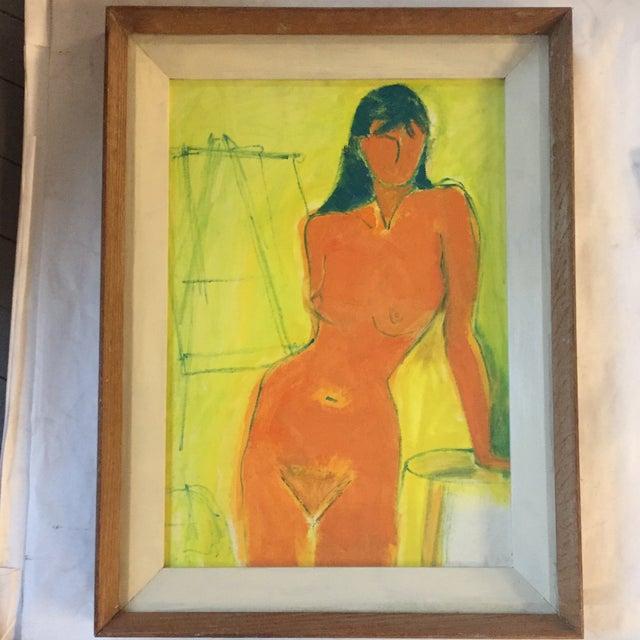 Vintage Mid -Century Female Nude Painting - Image 5 of 5