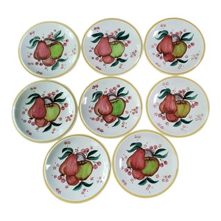 1930s Vernon Kilns California Dessert/Salad Plates by Gale Turnbull - Set of 8 For Sale