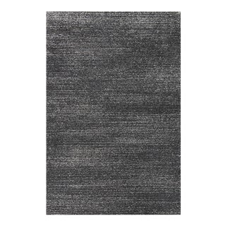Striped Gray & Black Rug - 4'x6'