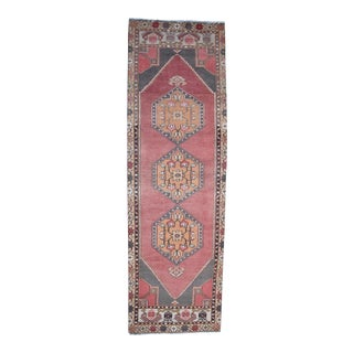 "Vintage Turkish Oushak Runner - 2'11"" X 9'5"" For Sale"