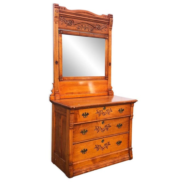 A great piece to compliment a bedroom with stunning carved motif throughout. Hand crafted of solid maple with a drastic...