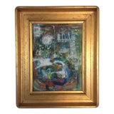 Image of Framed Abstract, Oil on Canvas For Sale