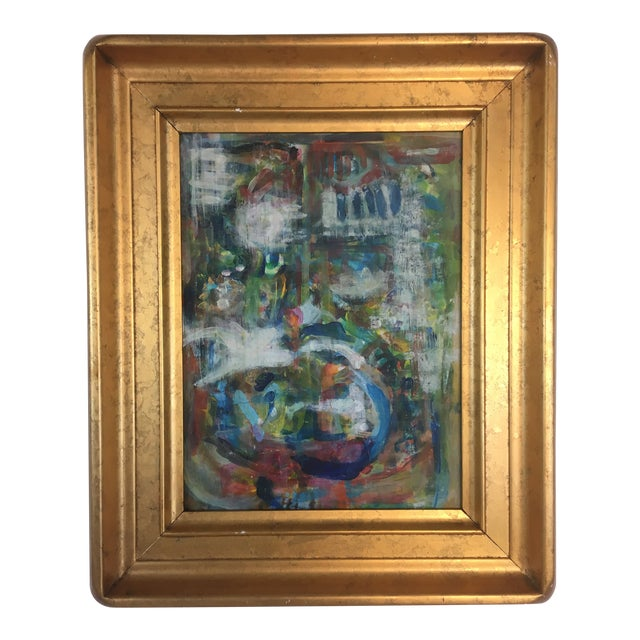 Framed Abstract, Oil on Canvas For Sale