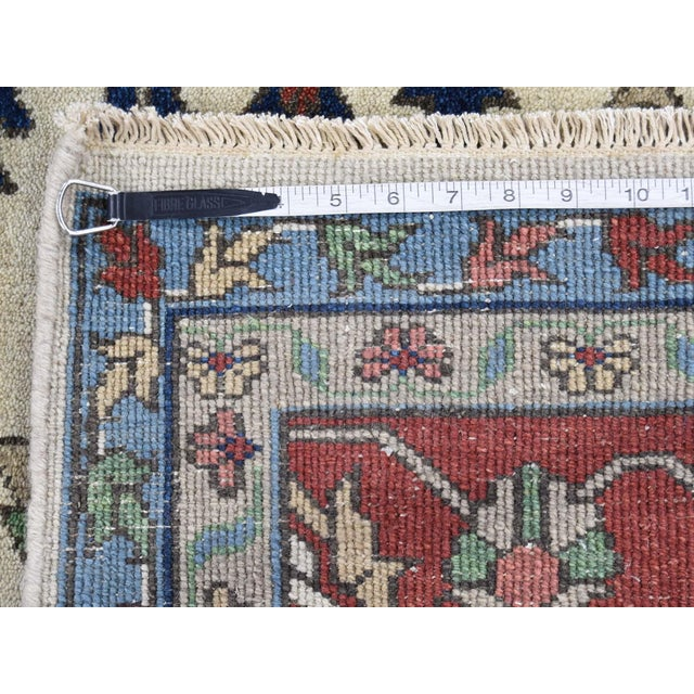 Hand-Knotted Wool Serapi Heriz Tribal Design Rug- 9′ × 11′9″ For Sale - Image 12 of 13