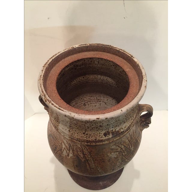 Brown John Schulps Studio Pottery Drink Dispenser For Sale - Image 8 of 8