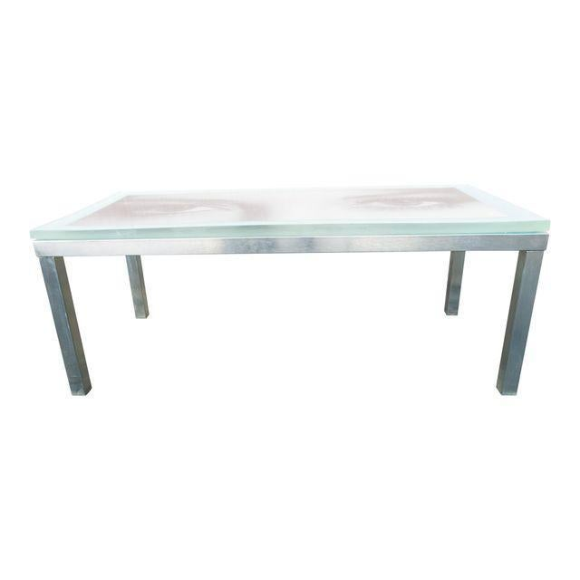 """Metal """"Eye of the Beholder"""" Coffee Table For Sale - Image 7 of 7"""